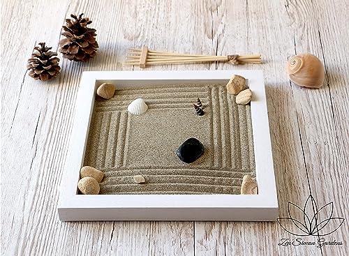 Jardin zen para Interior de Hogar en estilo Feng shui.Lleva Velas ...