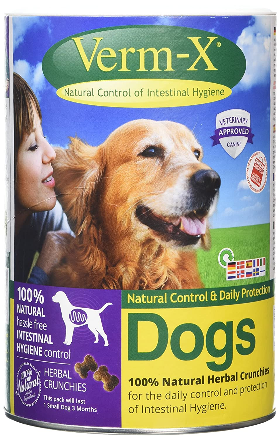 Verm X Herbal Crunchies for Dogs (Pack Size: 650g) Verm-X