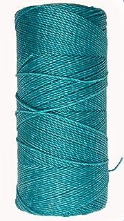 Azul marino Szaerfa Costura de hilo encerado 260m de cuero 1MM para cincel Awl zapatos conjunto de equipaje
