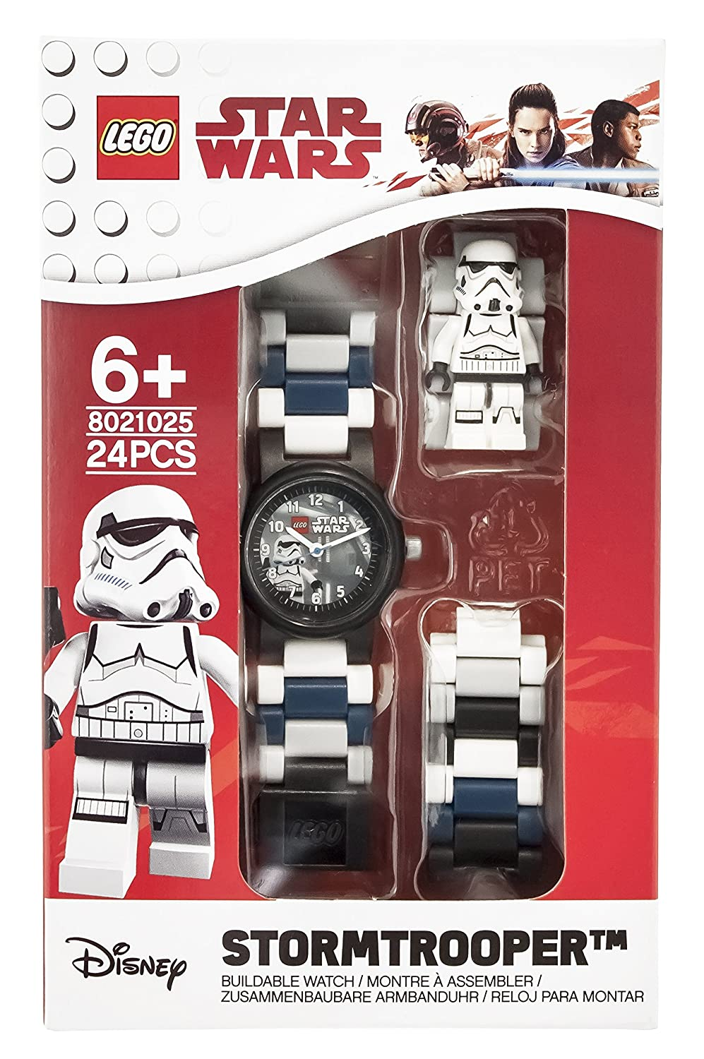 Amazon.com: LEGO Watches and Clocks Boys Star Wars Stormtrooper Quartz Plastic Casual watch, Color:Black (Model: 8021025): Clictime: Watches