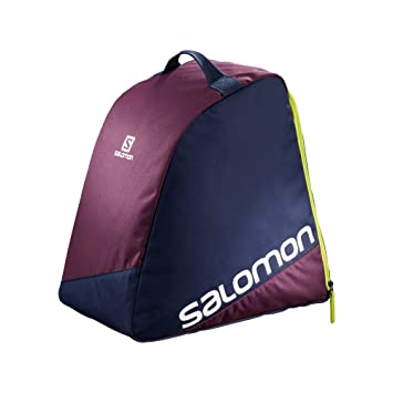 Salomon ORIGINAL BOOTBAG - Bolsa para botas de esquí, Unisex adultos, Multicolor - (Maverick/Acid Lime)