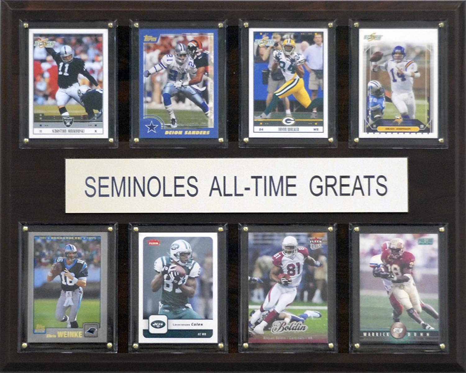 NCAA Football Florida State Seminoles All-Time Greats Plaque