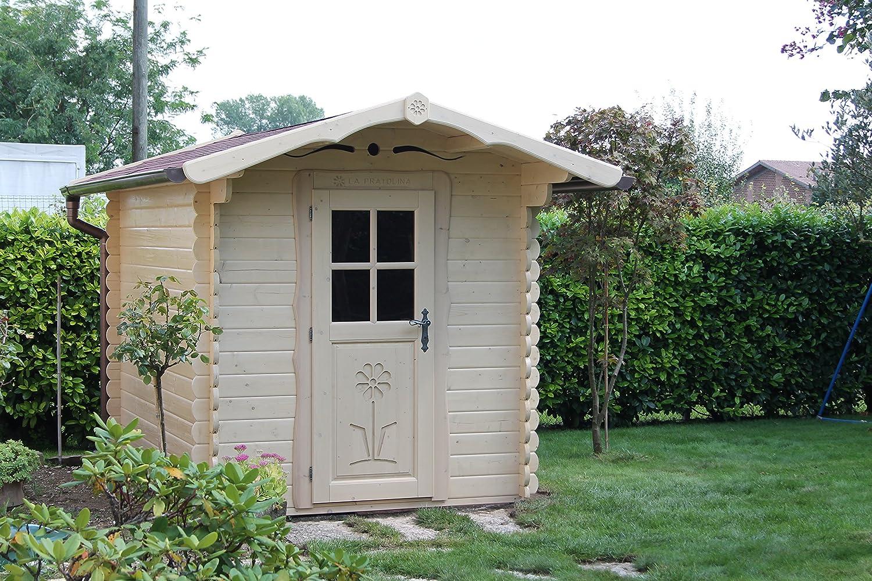 La Pratolina Casita de Madera 2 x 1.5 jardín, Caseta Herramientas, diseño Rural, Casa Juegos Niños: Amazon.es: Hogar