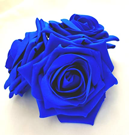 Large Royal Blue Roses Cluster Artificial Hair Flowers Fasciator Clip Hand Made in Uk g1iahwizp