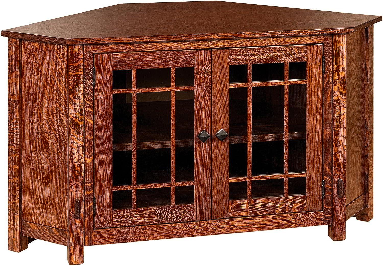 Amish Heirlooms Mccoy - Mueble esquinero para televisor (Madera de Cerezo): Amazon.es: Bricolaje y herramientas