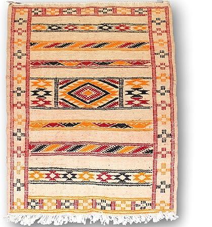 Authentique Marocain Fait A La Main Tapis Kilim 100 Laine Tisse
