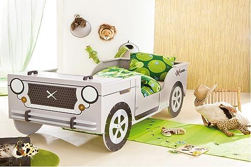 Kinderbett dschungel  Autobett Jeep inkl Rollrost + Matratze 90*200 cm Kinderbett Safari ...