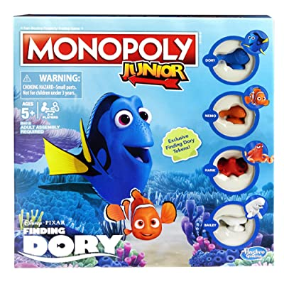 Monopoly Junior: Disney/Pixar Finding Dory Edition: Toys & Games
