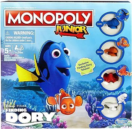 Finding Dory Monopoly Jr Game by Hasbro: Amazon.es: Juguetes y juegos