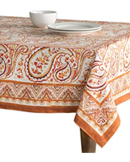 Maison Du0027 Hermine Palatial Paisley 100% Cotton Tablecloth 54   Inch By 72