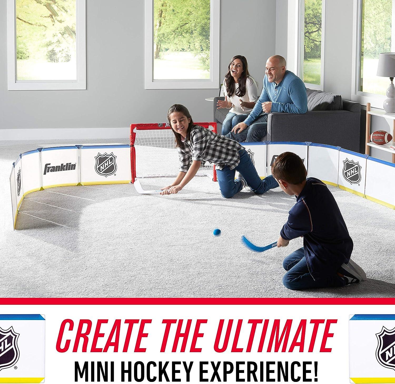 Franklin Sports Mini Hockey Rink Set - Half Rink Knee Hockey Goal, Mini Sticks, and Ball Set - Indoor Mini Hockey Rink - Official NHL Licensed : Sports & Outdoors