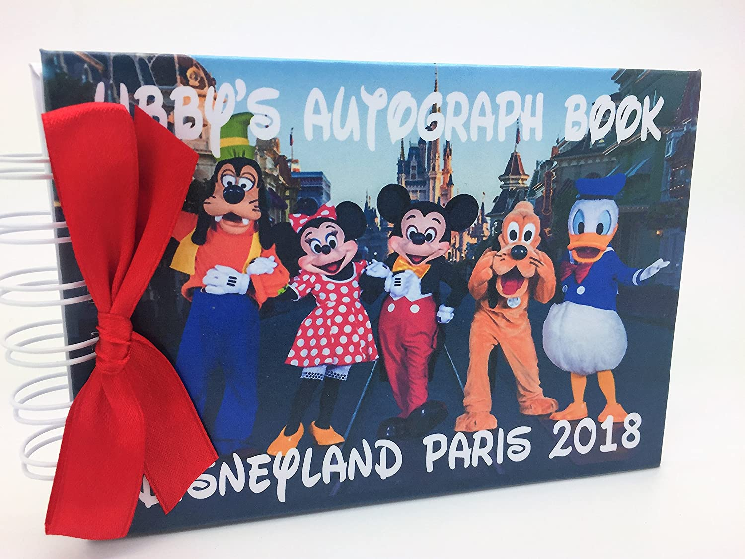Any occasion POCKET SIZED PERSONALISED DISNEY MICKEY MOUSE & FRIENDS AUTOGRAPH BOOK in the UK size Approx 4.2