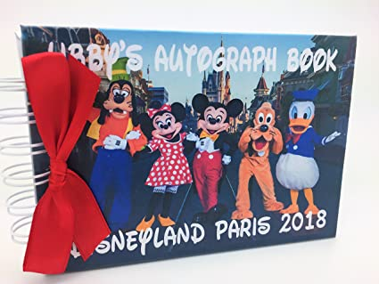 POCKET SIZED PERSONALISED DISNEY MICKEY MOUSE /& FRIENDS AUTOGRAPH BOOK FREE Delivery in the UK size Approx 4.2 x 5.9 professional laminate gloss film covering front and back outer covers to protect from sticky fingers