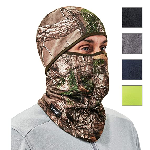 Ergodyne N-Ferno 6823 Balaclava Ski Mask, Wind-Resistant Camo Face Mask, Hinged Design best gifts for hunters