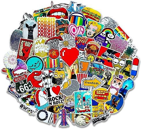 100PCS Vsco Cartoon Cute Stickers Decal for Laptop Phone Luggage Window Graffiti