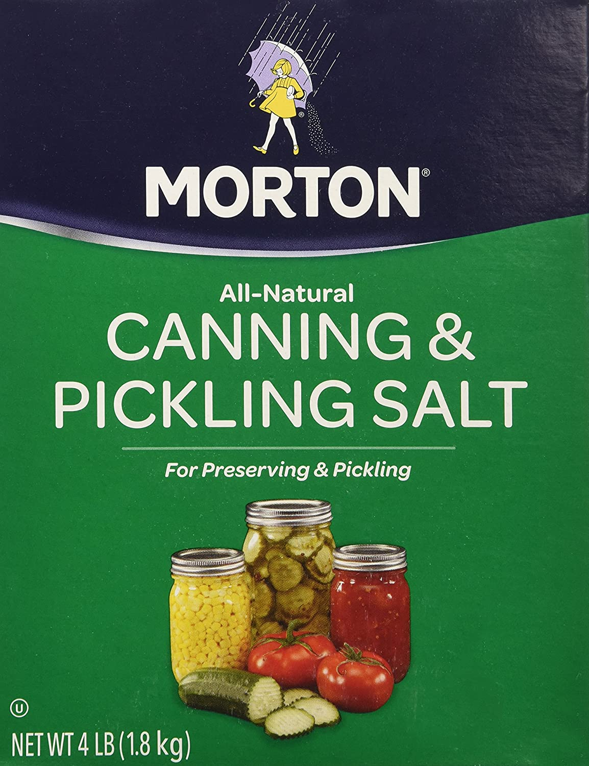 Morton Canning an Pickling Salt 4 lb box (2 Pack) : Allspice Spices And Herbs : Grocery & Gourmet Food