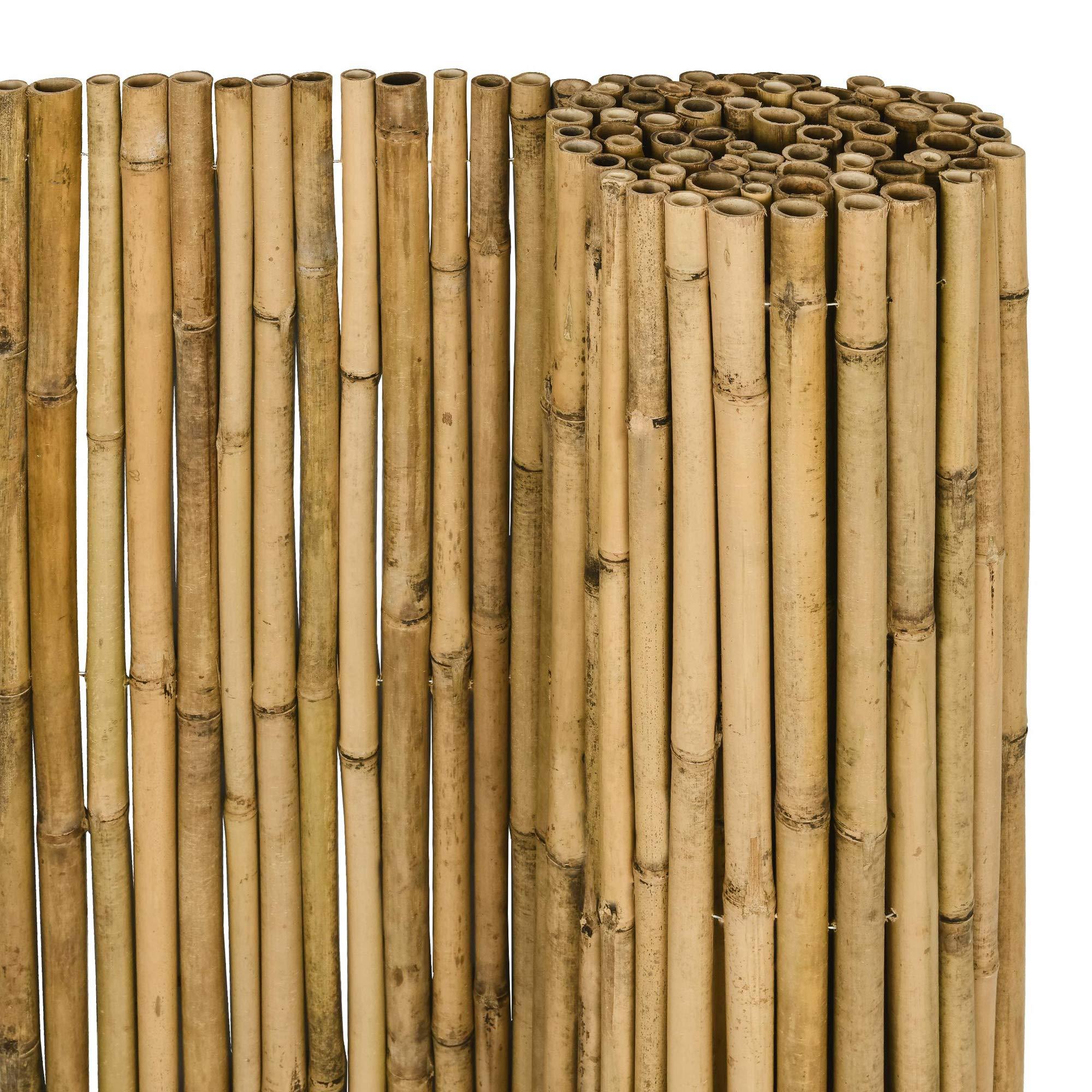 Hxb Sol Royal Sichtschutz Bambus Zaun Massiv 90x250cm