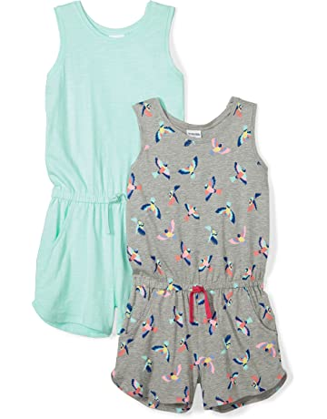 17057dc104ba Amazon Brand - Spotted Zebra Girls' Toddler & Kid 2-Pack Knit Sleeveless  Tank