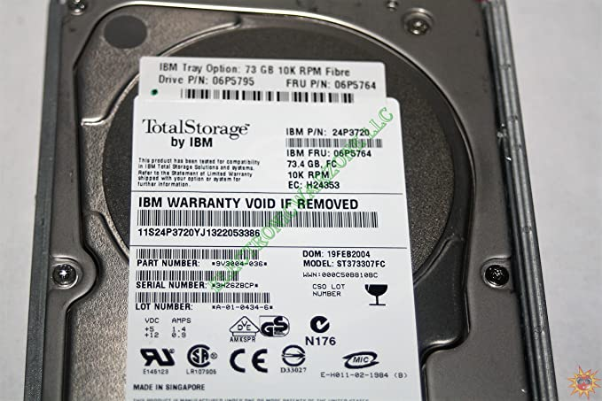 Amazon.com: 06P5764 Ibm 73.4Gb 10000Rpm 3.5Inch Hot-Swap Fibre Channel Hard Drive: Computers & Accessories