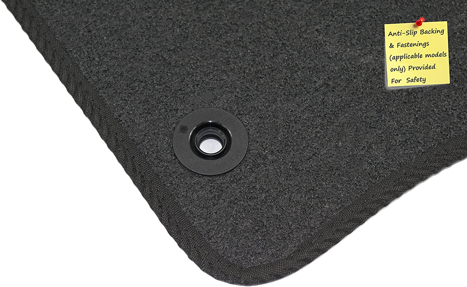 Connected Essentials 5006635 Tailored Heavy Duty Custom Fit Car Mats Premium for A6 C5 Set of 4 Black with Black Trim 1997-2003