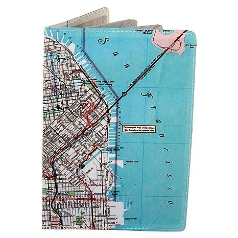Deutsch Reisephülle Karte Bucht von San Francisco: Amazon.de ... on