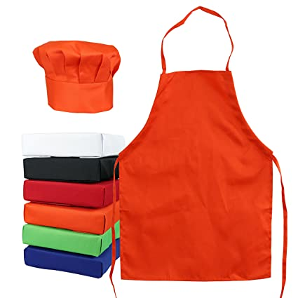 Amazoncom Tessas Kitchen Kids Childs Chef Hat Apron Set Kids