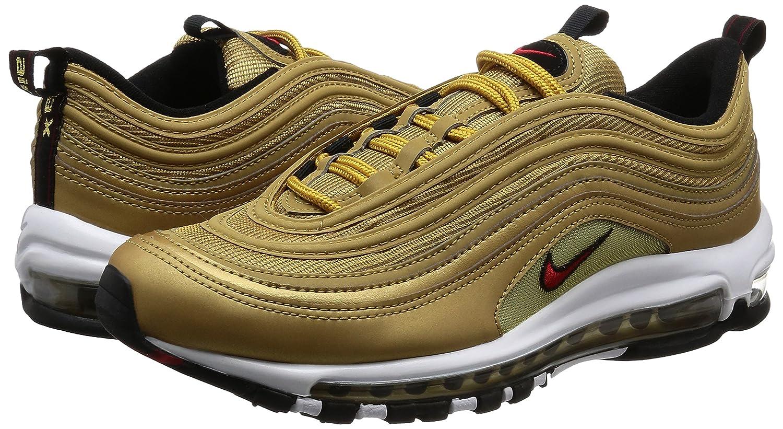 Nike Air Max 97 OG QS QS QS  Gold  - Metallic Gold Varsity rot Trainer 4feaf2