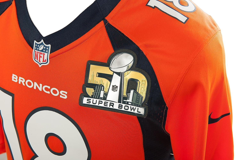 d5c97b062e1 Amazon.com   Nike NFL Superbowl 50 Peyton Manning Denver Broncos Jersey - Brilliant  Orange -   Sports   Outdoors