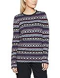 Fjällräven Övik Folk Knit Sweater w Women Wool Pullover, Womens, Övik Folk Knit Sweater W, Uncle Blue, S