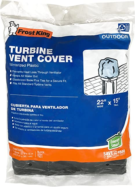 Fits average size Frost King Winterrized Plastic Turbine Vent Cover