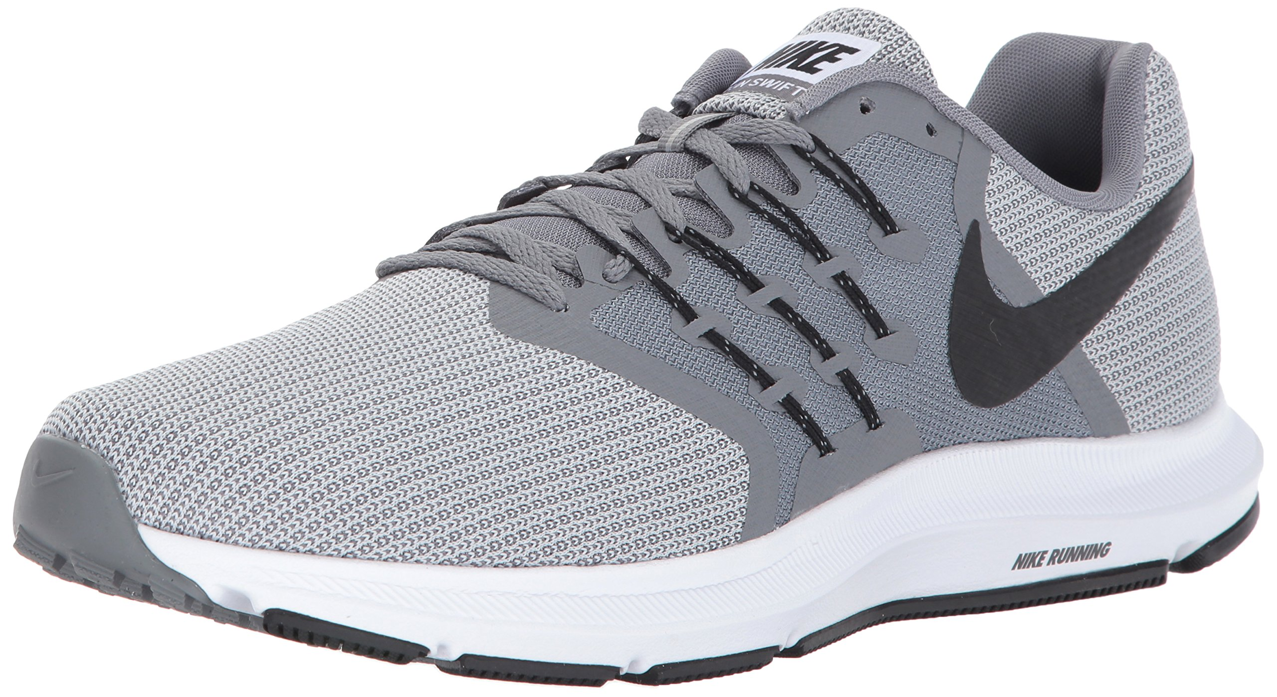 1f1be7818679b Galleon - Nike Men's Run Swift Shoe, Cool Wolf Grey-Black, 6.5 Regular US