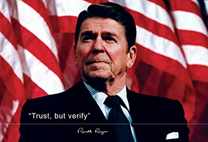 Image result for ronald reagan trust but verify images