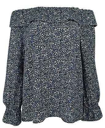 9208fc19fd9 Michael Kors Women's Floral Print Off-The-Shoulder Ruffle Top-B-S at ...