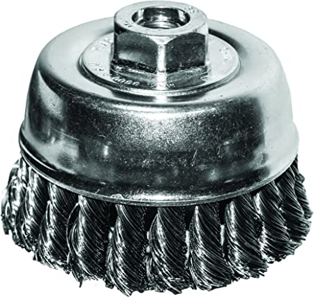 Vermont American 16784 3-Inch Fine Wire Cup Brush with 1//4-Inch Hex Shank for Drill