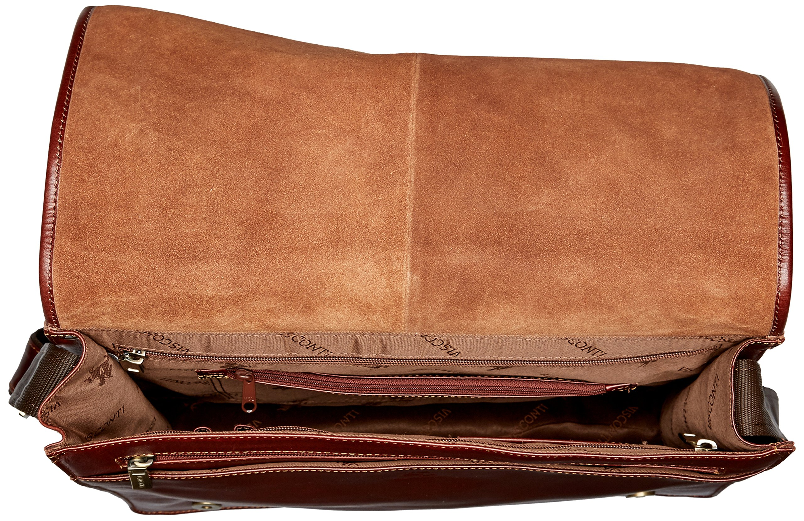 Visconti Vintage-7 Veg Tan Brown Soft Leather Messenger Bag Case, Brown, One Size by Visconti (Image #5)