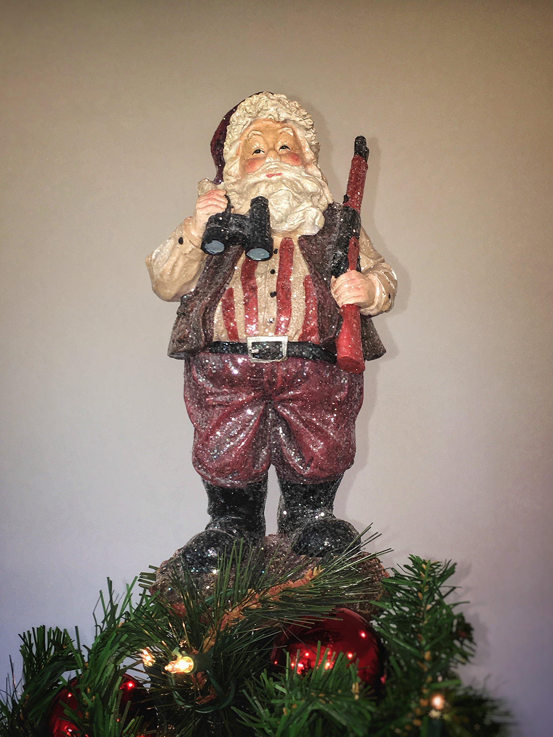 Summit Arbor Hunting Santa Unique Christmas Tree Topper