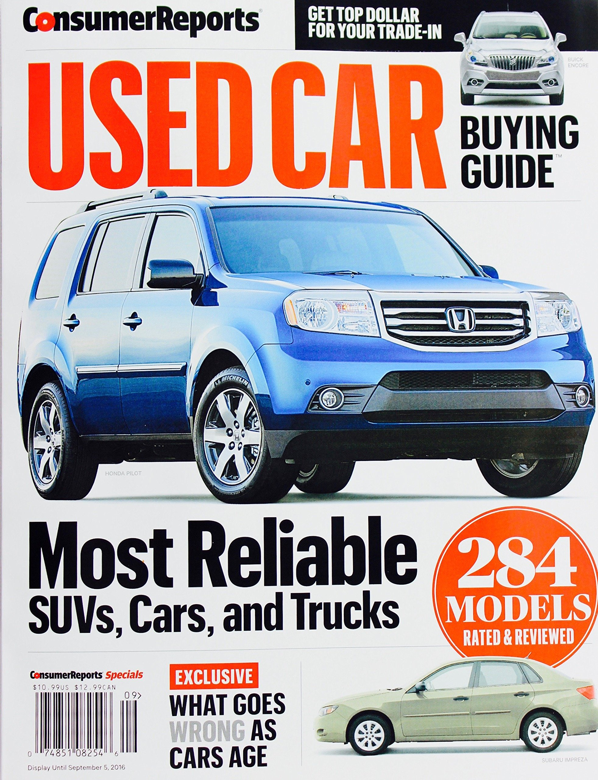 Consumer Reports Used Car Buying Guide, September 2016: Amazon.com: Books
