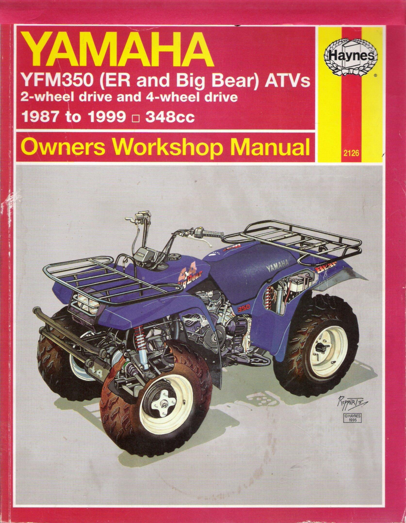 Haynes Yamaha YFM350 Big Bear & ER (Haynes Owners Workshop Manual): Alan  Ahlstrand, Haynes Publishing: 9781563924149: Amazon.com: Books