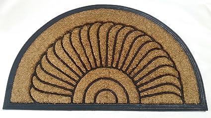 Bon Sunburst Coir Black Doormat 30u0026quot; ...