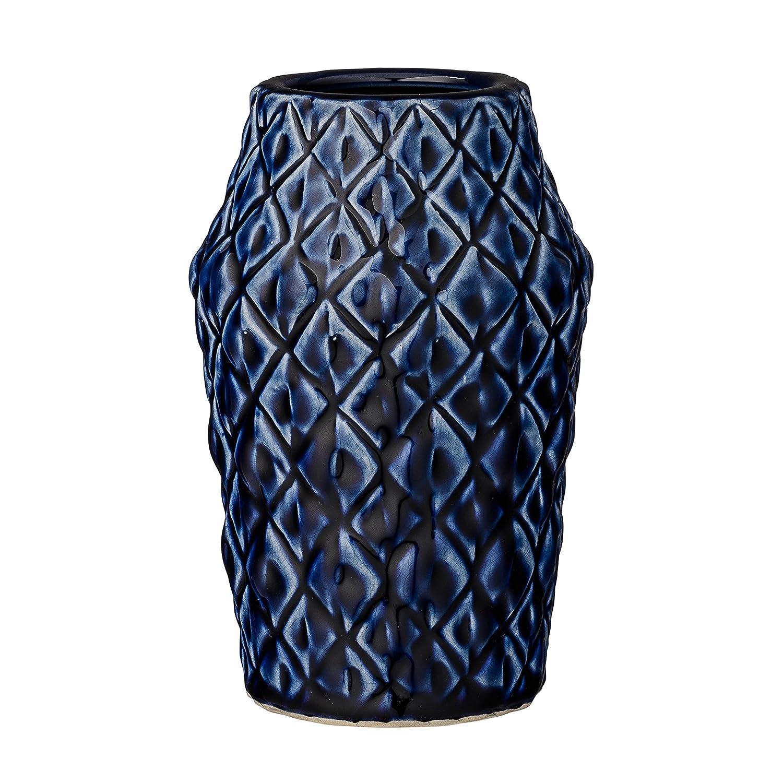 Bloomingville Navy Patterned Ceramic Vase A27120013