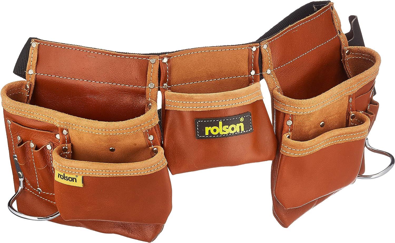 Set Schraubentasche doppel Fach inkl Ledergürtel Doppeldorn 120cm echt Leder