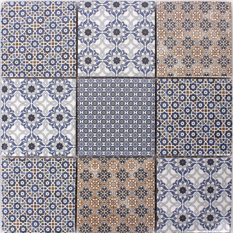 keramik mosaik fliesen zement optik classico amazonde baumarkt - Fliesen