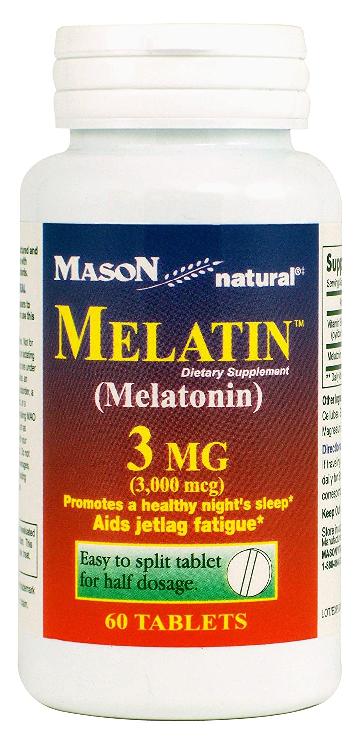 Amazon.com: Mason Natural Melatonin 3 Mg, 60 Tablets: Health & Personal Care