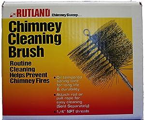 "Rutland 12"" X 8"" Rectangular, Wire, 1/4"" Pipe Thread Chimney Sweep"
