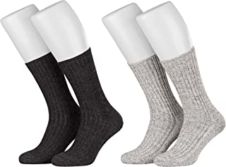 Piarini® - Calcetines noruegos mullidos - Aptos para diabéticos - Sin elásticos - Varios colores y tallas grandes