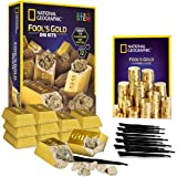 NATIONAL GEOGRAPHIC Fool'S Dig Kit – 12 Gold bar Dig Bricks with 2-3 Pyrite Specimens Inside, Party Activity with 12…