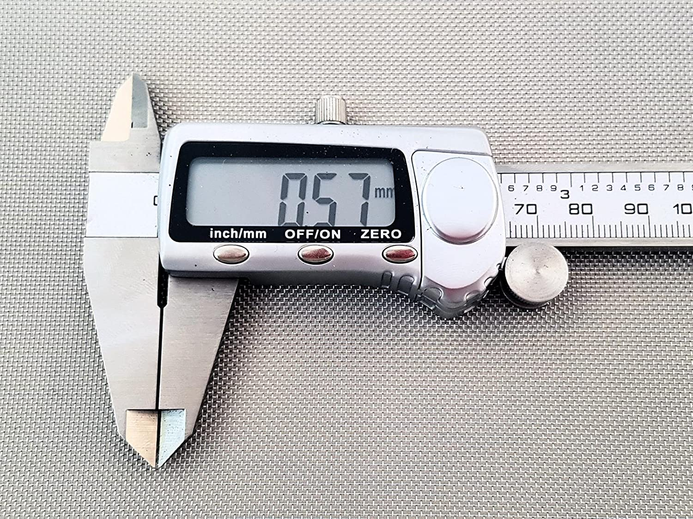 Inoxia Ltd - Grillage Mé tallique En Acier Inoxyable 304L, 30 Maille, Ouverture De 0,57mm, Taille: é chantillon simple Taille: échantillon simple