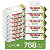 Huggies Natural Care Sensitive Baby Wipes, Unscented, 12 Flip-Top Packs (768 Wipes...