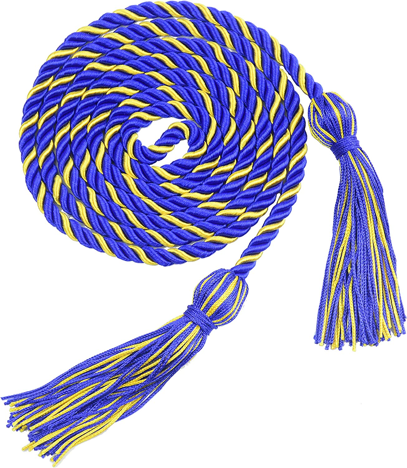 Navy Blue/&White Aokbean 2pcs 67 inches Graduation Honor Cord Tassels with Double Cord for Bachelor Graduation Students Home Decor