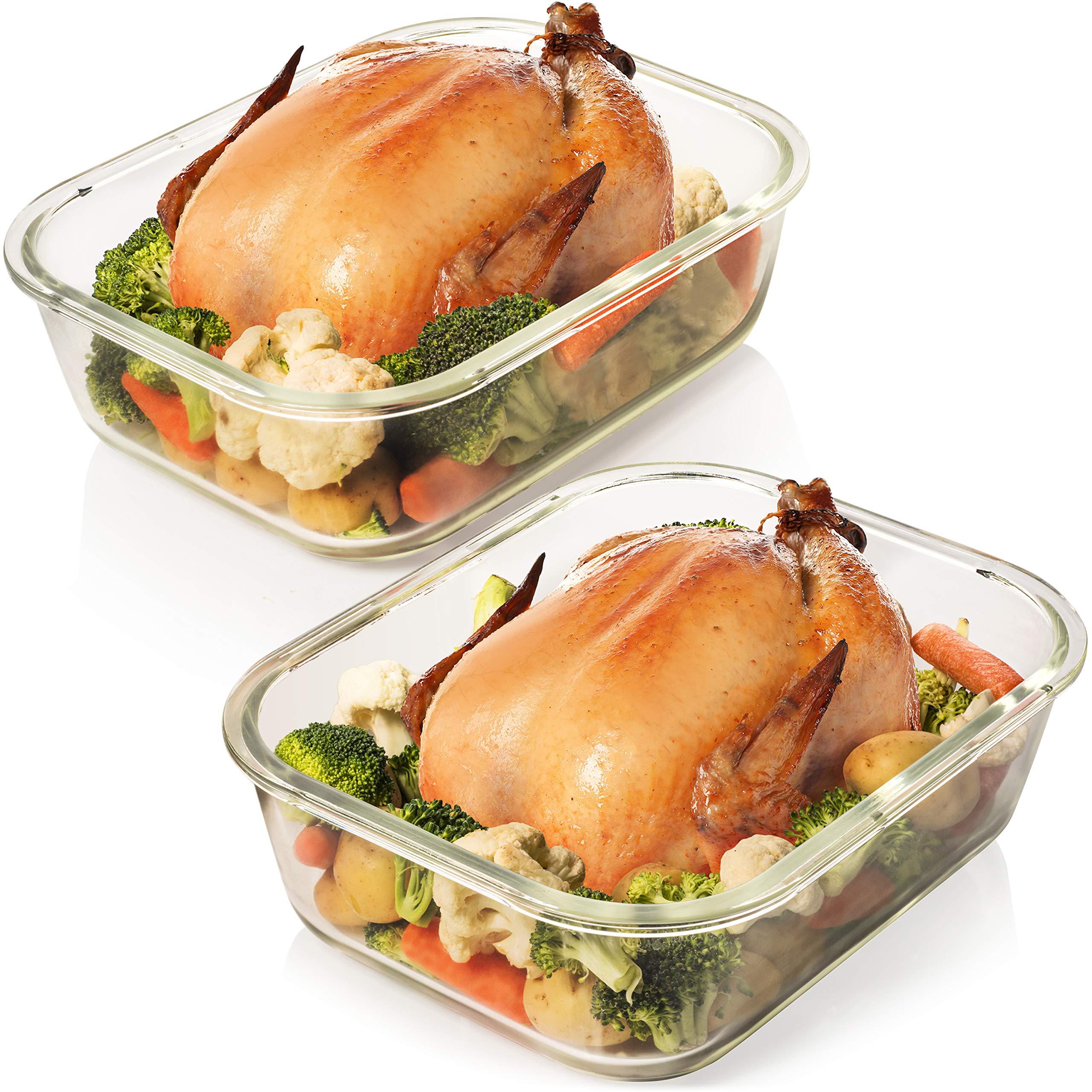Razab 10 Cups 80 Oz 4 Pc Set Of 2 Glass Food Storage